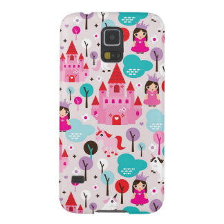 kids princess castle and unicorn galaxy s5 covers