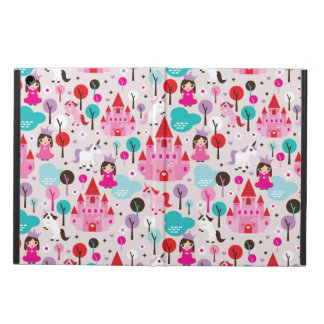 kids princess castle and unicorn iPad air cases