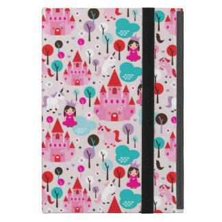 kids princess castle and unicorn iPad mini covers