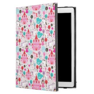 "kids princess castle and unicorn iPad pro 12.9"" case"
