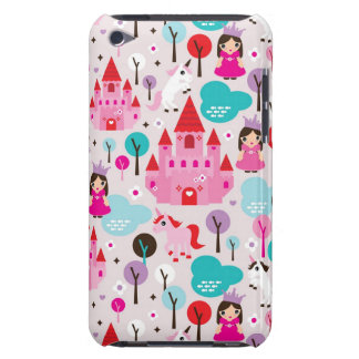 kids princess castle and unicorn iPod Case-Mate cases