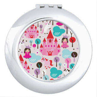 kids princess castle and unicorn makeup mirrors