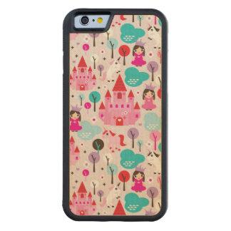 kids princess castle and unicorn maple iPhone 6 bumper