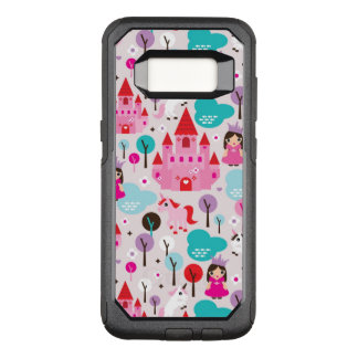 kids princess castle and unicorn OtterBox commuter samsung galaxy s8 case