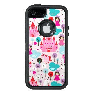 kids princess castle and unicorn OtterBox defender iPhone case