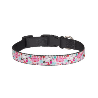 kids princess castle and unicorn pet collar