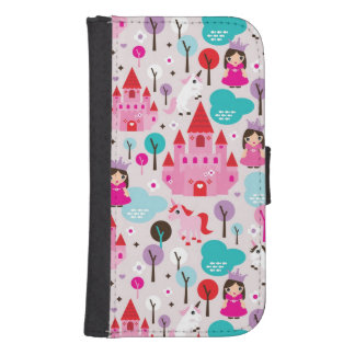 kids princess castle and unicorn samsung s4 wallet case