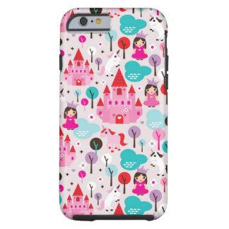 kids princess castle and unicorn tough iPhone 6 case