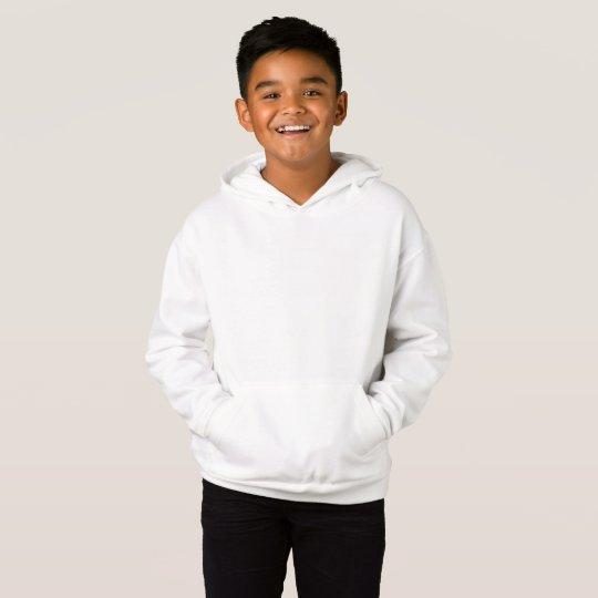 Fleece Pullover Hoodie, White
