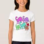 Kids Purple & Pink Dinosaur T-shirt Cute Gift