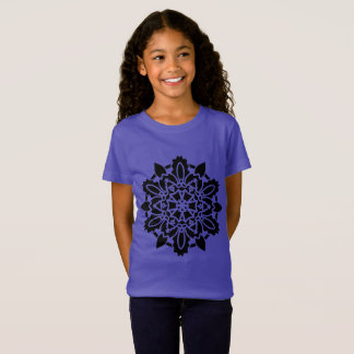 KIDs purple TSHIRT with mandala