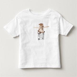 Kids' QR Code T-Shirt, White T Shirt