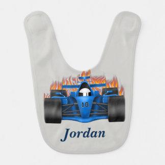 Kid's Race Car Flames Bib