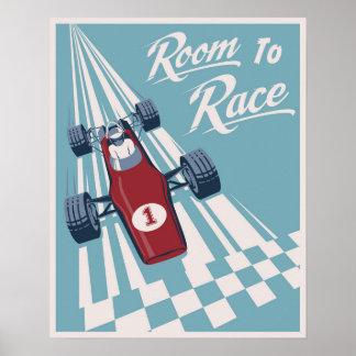 Kid's racing poster