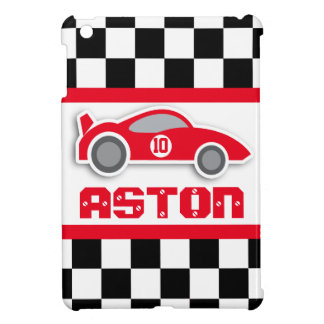 Kids racing red sports car named age ipad mini case for the iPad mini