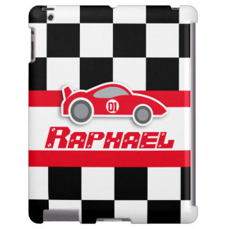 Kids racing red sports car named ipad case