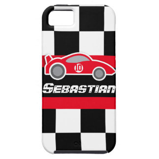Kids racing red sports car named iphone case iPhone 5 cover