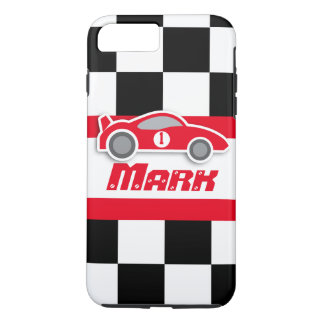 Kids racing red sports car named iphone case