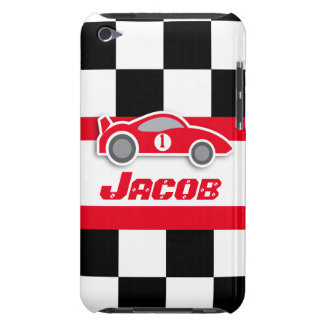 Kids racing red sports car named ipod touch case