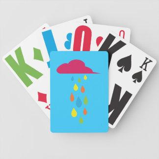Kids Rain Cloud Playing Cards