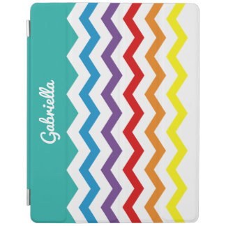 Kids Rainbow Chevron Colorful Pretty Personalized iPad Cover