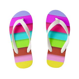 Kids rainbow designer slim-Straps Sandals Flip Flops