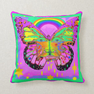 Kids Rainbow Face Play Pillow by Sharles Throw Cushion