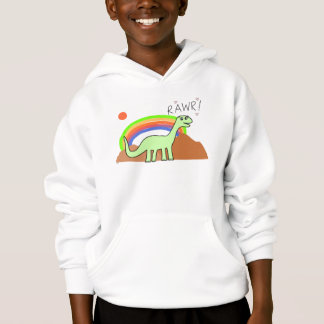 Kids Rainbow Rawr Hoodies