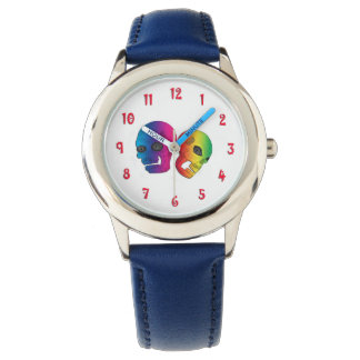 Kids Rainbow Skulls Watch