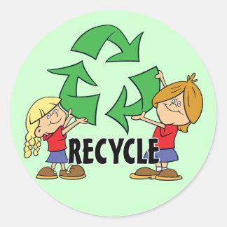 Kids Recycle Classic Round Sticker