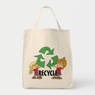 Kids Recycle Grocery Tote Bag