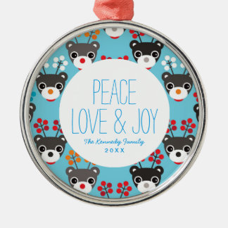 Kids Red Nosed Reindeer Pattern Christmas Ornament