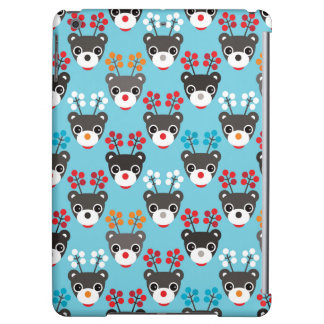 Kids Red Nosed Reindeer Pattern Cover For iPad Air