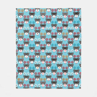 Kids Red Nosed Reindeer Pattern Fleece Blanket