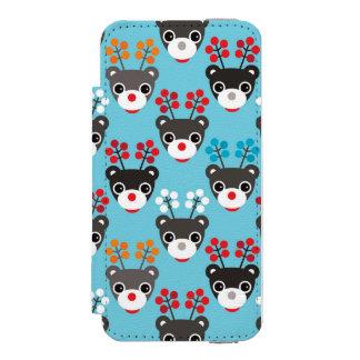 Kids Red Nosed Reindeer Pattern Incipio Watson™ iPhone 5 Wallet Case