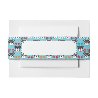 Kids Red Nosed Reindeer Pattern Invitation Belly Band
