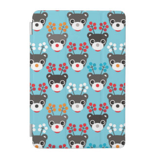 Kids Red Nosed Reindeer Pattern iPad Mini Cover