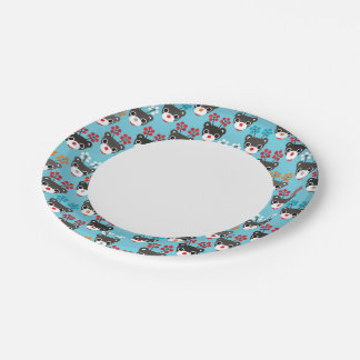 Kids Red Nosed Reindeer Pattern Paper Plate
