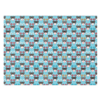 Kids Red Nosed Reindeer Pattern Tablecloth
