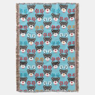 Kids Red Nosed Reindeer Pattern Throw Blanket