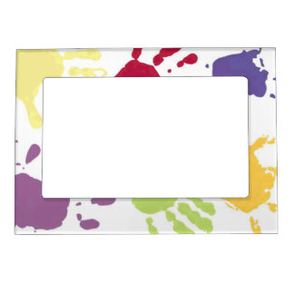 Kids Red Yellow, Green Hands Magnetic Frame