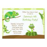 Kids Reptile Birthday Party Invitation 13 Cm X 18 Cm Invitation Card