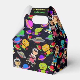 Kids Retro Astronauts and Robots Personalized Favour Box