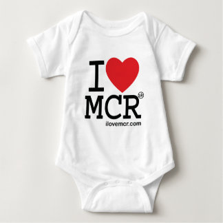 Kids romper suit - I Love Manchester MCR
