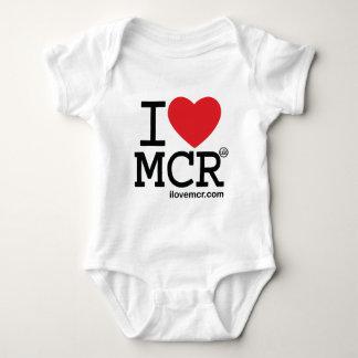 Kids romper suit - I Love Manchester MCR Baby Bodysuit