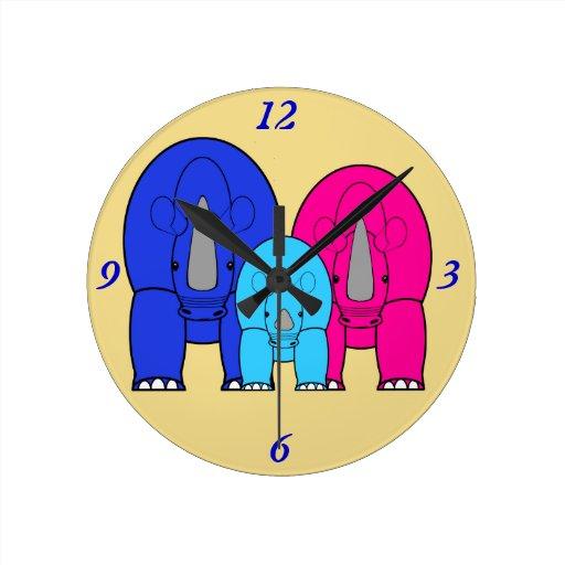Kids room clocks kids room wall clock designs zazzle for Kids room clock