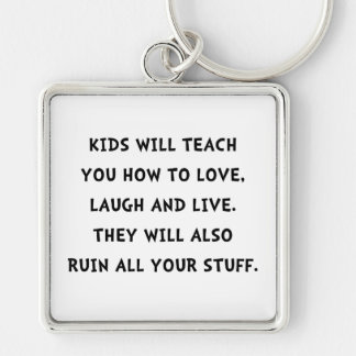 Kids Ruin Silver-Colored Square Key Ring