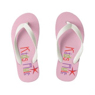 Kids Rule Flip Flops