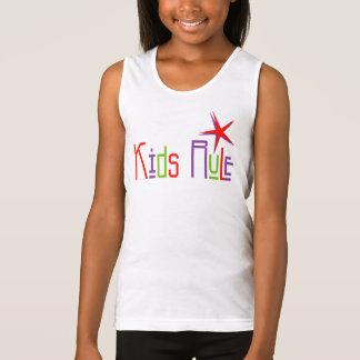 Kids Rule Girls Spaghetti Strap Tank Top