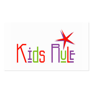 Kids Rule Profile Cards Pack Of Standard Business Cards